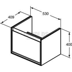 Connect Air шкаф за мивка Cube 53 см 2