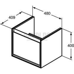 Connect Air шкаф за мивка Cube 48 см 2