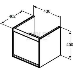 Connect Air шкаф за мивка Cube 43 см 2