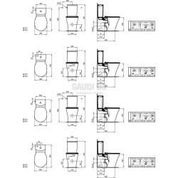 Connect Air моноблок стояща Aquablade плътно прилепване към стена 2