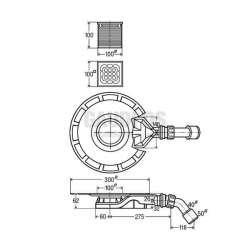 Плосък сифон за баня Viega Advantix 4980.61 - 62 мм 2