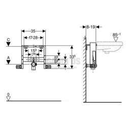 Geberit Kombifix структура за мивка 2