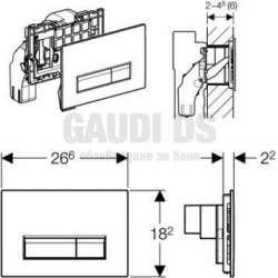 Geberit Sigma 40 активатор за WC черно стъкло 2
