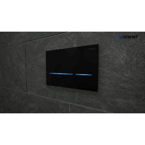 Сензорен активатор Geberit Sigma 80 черно стъкло 116.090.SG.1
