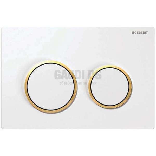 Geberit Omega 20 активатор за WC бял/златен 115.085.КК.1