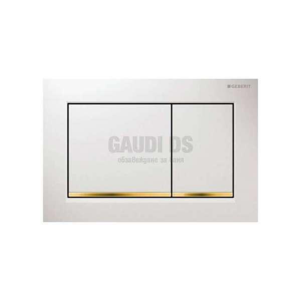 Geberit Omega 30 активатор за WC бял/златен 115.080.КК.1