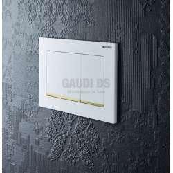 Geberit Omega 30 активатор за WC бял/златен 2