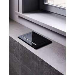 Geberit Omega 60 активатор за WC черно стъкло 2