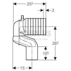 Монтажен комплект за стоящи тоалетни чинии Geberit 2