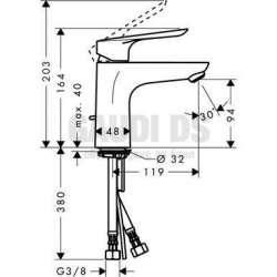 Смесител за мивка Logis E 100 Hansgrohe 1