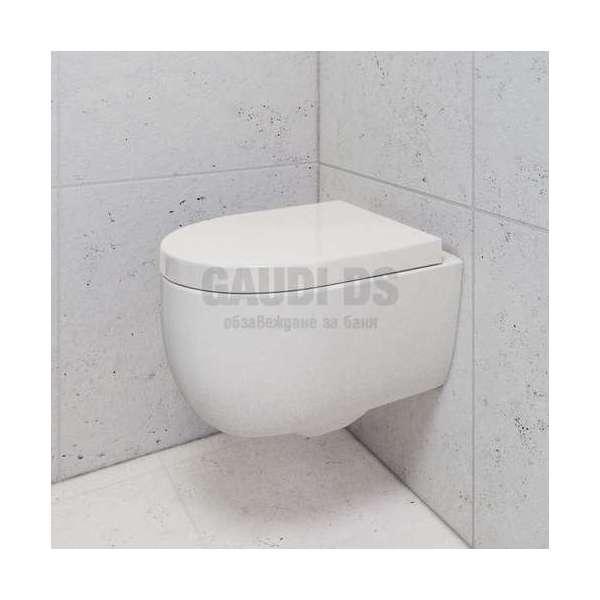 Bocchi Tondo Rimless конзолна WC с вградено биде 1367 001 0128+А0374 001