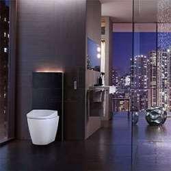 Geberit Монолит Плюс санитарен модул за стояща на пода WC черно стъкло 114 см 2