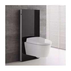 Geberit Монолит санитарен модул за окачена WC черно стъкло 114 см 131.031.SJ.5
