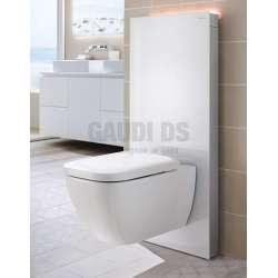 Geberit Монолит Плюс санитарен модул за окачена WC бяло стъкло 101 см 131.221.SI.5