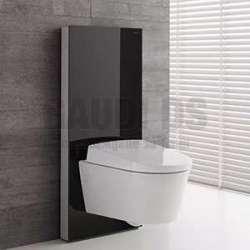 Geberit Монолит Плюс санитарен модул за окачена WC черно стъкло 101 см 131.221.SJ.5