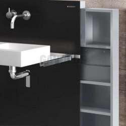 Geberit Монолит санитарен модул за окачена мивка черно стъкло