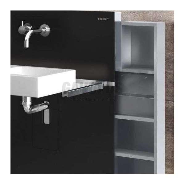 Geberit Монолит санитарен модул за окачена мивка черно стъкло 131.042.SJ.1