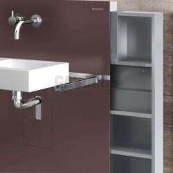 Geberit Монолит санитарен модул за окачена мивка тъмно кафяво 2