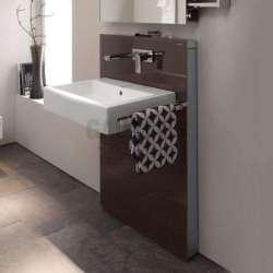 Geberit Монолит санитарен модул за окачена мивка тъмно кафяво