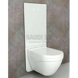Bocchi структура за вграждане с бял стъклен панел за WC T02-211BS60