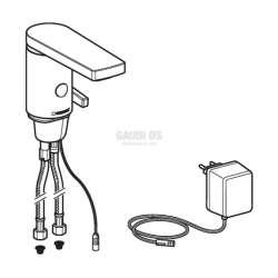 Смесител за мивка с фотоклетка модел 186, работи на ток 2