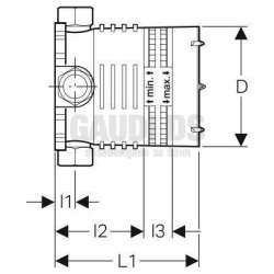 Вграден монтажен елемент за стенен смесител 2