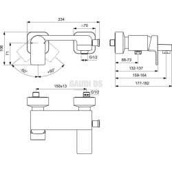 EDGE смесител стенен за вана/душ без аксесоари 1