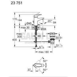BauFlow смесител, едноръкохватков, S-размер 2