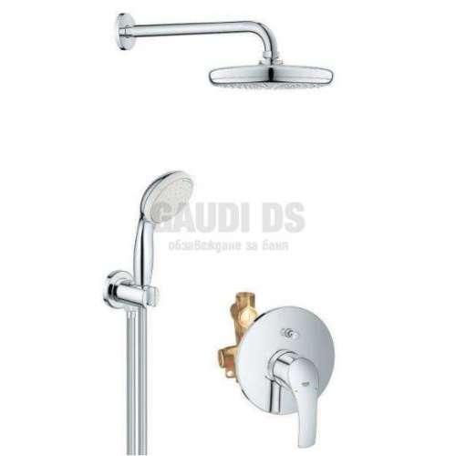 Grohe душ комплект, смесител за вграждане за вана/душ