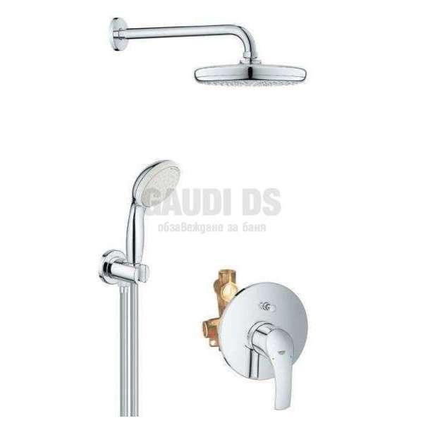 Grohe душ комплект, смесител за вграждане за вана/душ 33305002+26412000+26406001