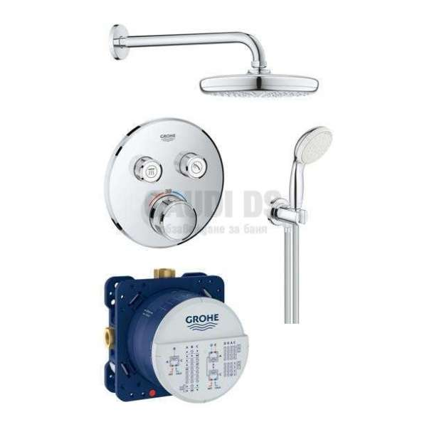 Grohe душ комплект с термостат за вграждане GRT SmartControl 35600000+29119000+26412000+26406
