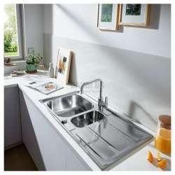 Grohe К400 двойна неръждаема мивка с отцедник 2