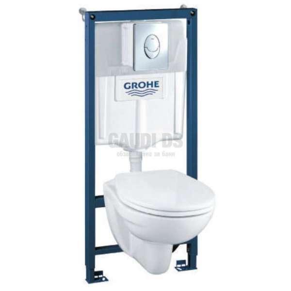 Grohe WC комплект Solido 4 в 1 за вграждане (чиния Perth) 39192000