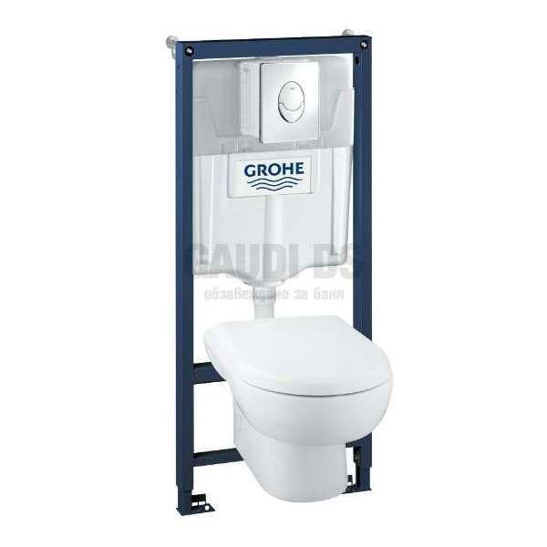 Grohe WC комплект Solido 4 в 1 за вграждане (чиния Madison) 39191000