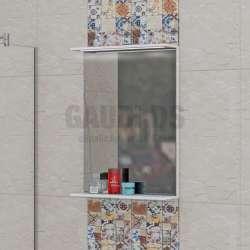 Огледало с осветление и полица Havana 50см triano_havana_ogledalo