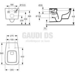 Ideal Standard WC Ventuno + седалка 2