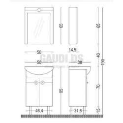 Комплект Visota Eli 50 PVC 2