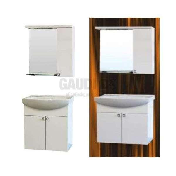 Комплект PM 55см PVC горен с огледало и LED, мивка, конзолни PM5501UN+PMC5501N