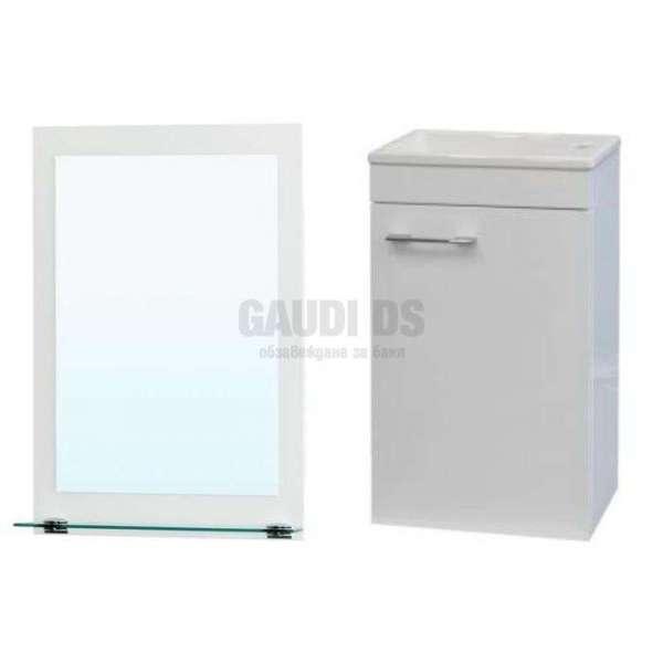 Комплект Mini Next 40см PVC огледало, долен с мивка, конзолен MM4001UN+MI4001N