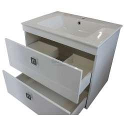 Долен Venera 71см PVC, конзолен с чекмеджета и мивка 2