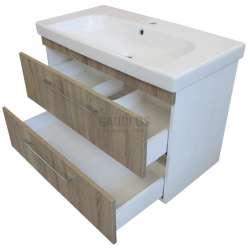 Долен Roma 85см PVC, конзолен с чекмеджета и мивка 2