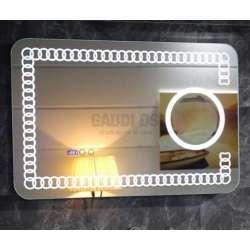 Огледало с вградено LED осветление, часовник 90х60см GDS_icl1790