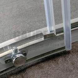 Овална Easy 90х90х190 с прозрачно стъкло 2