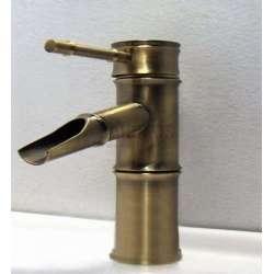 Смесител Bambu цвят Antic стоящ за мивкa, нисък GDS_bambu10