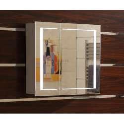 Огледален горен PVC шкаф за баня с LED осветление 80 см goren_601580_pvc_icgds