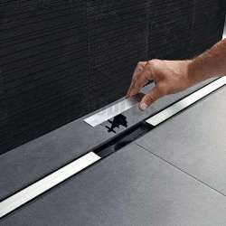 Geberit душ канал CleanLine 20 - черен метал 30-90 см 154.450.00.1