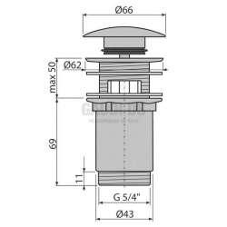 Декоративен овален сифон Design A400 Alcaplast 2