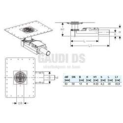 Geberit подов сифон за височина на пода от 90 мм 2