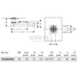 Geberit подов сифон за височина на пода от 65 мм 2