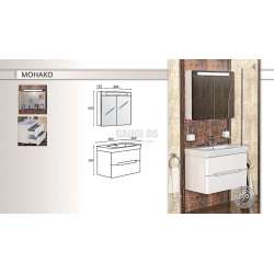 Комплект Triano Monaco с мивка и плавно затваряне 1